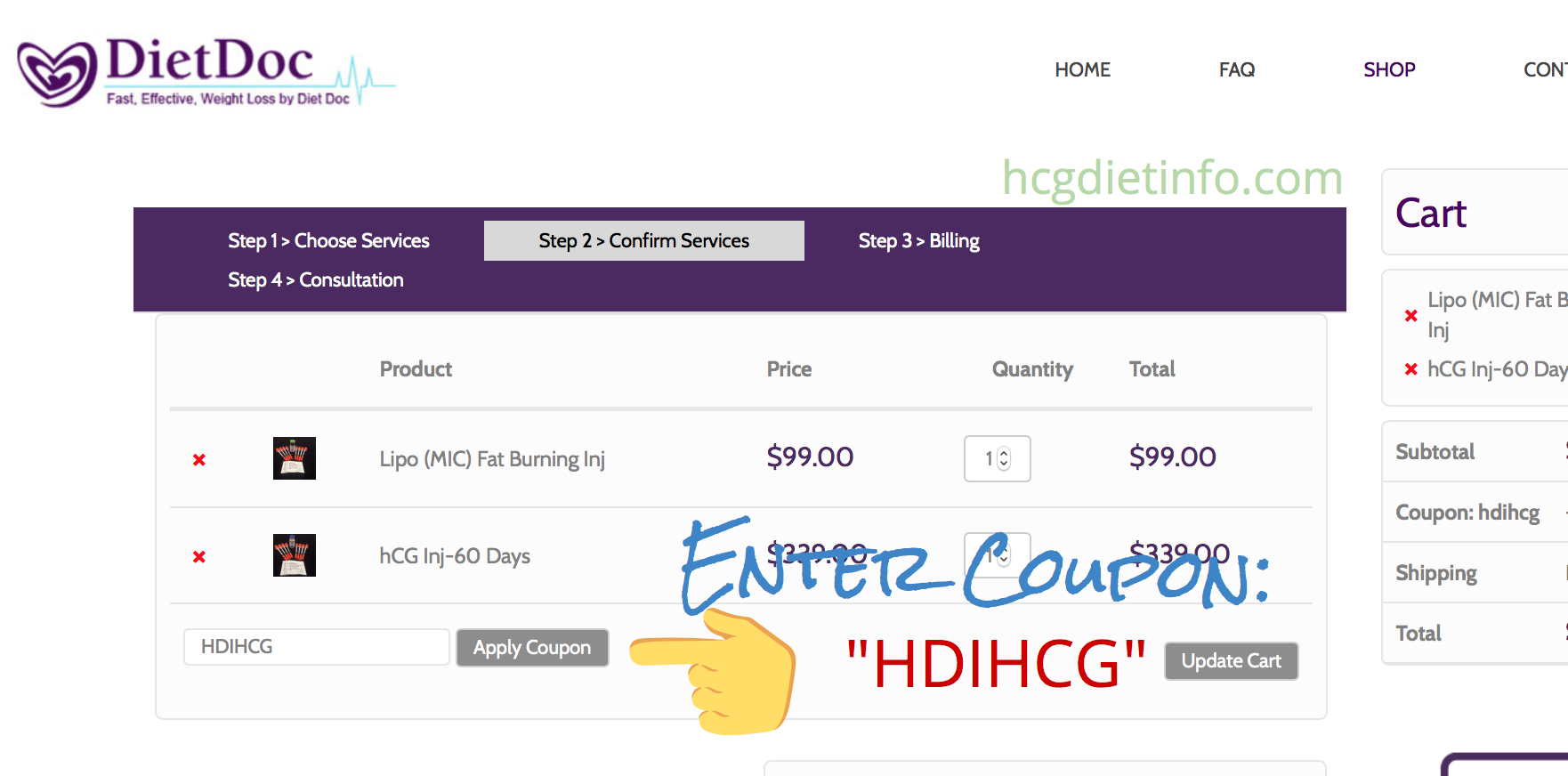 "Enter Diet Doc Coupon Code here - ""HDIHCG"" - Diet Doc Hcg Sale"
